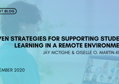 Seven strategies for supporting student learning in a remote environment