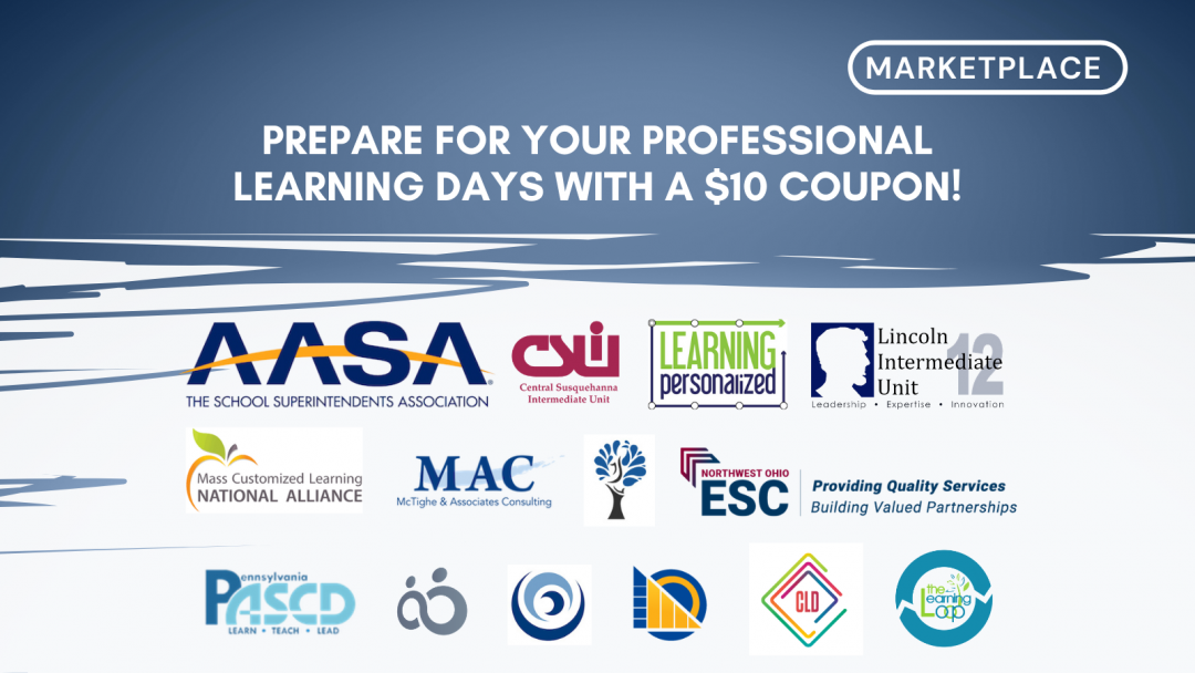 Prepare for your Professional Learning Days with a $10 Marketplace Coupon!